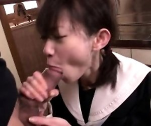 Young Japanese babe loves...