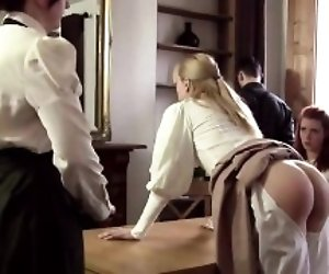 Hot pornstar spanking with...