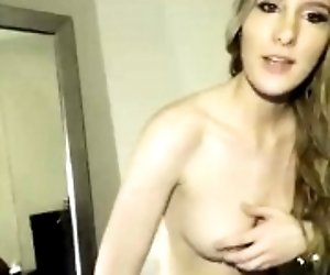 New blonde slut showing her...