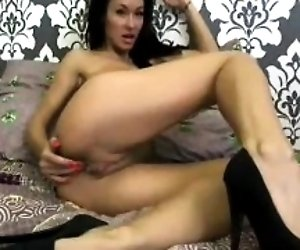 Hot Webcam Girl Dildos Her...