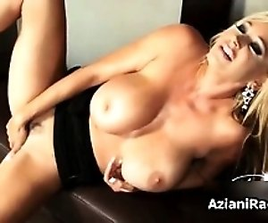 Amazing blonde mom with big...